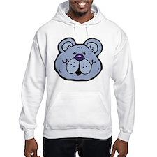 Blue teddy face Hoodie