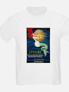 1920 Italian Mermaid & Sponge Advertising Poster T