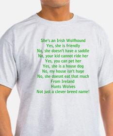Wolfie Questions Answered (she) T-Shirt