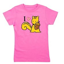 I Love Squirrels Girl's Tee