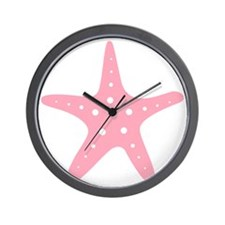 Pink Starfish Wall Clock