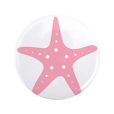"Pink Starfish 3.5"" Button"