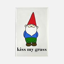 """""""kiss my grass"""" Rectangle Magnet"""