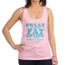 Sweat is just fat crying fitness work out Racerbac