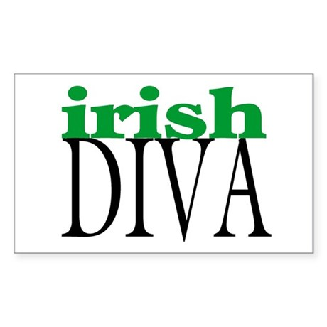 Irish Diva Rectangle Sticker
