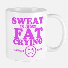 Sweat is just fat crying fitness work out Mugs
