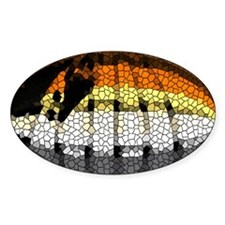 BEAR PRIDE TEXTURED SUB Oval Decal