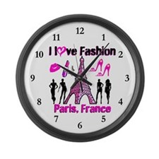 FRENCH FASHION Large Wall Clock