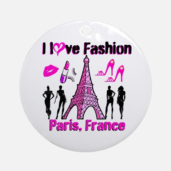 FRENCH FASHION Ornament (Round)