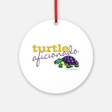 Turtle Aficionado Ornament (Round)