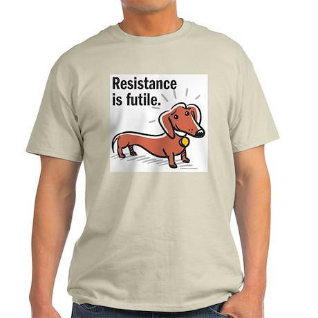 "Dachshund ""Resistance"" Ash Grey T-Shirt"