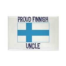 Proud Finnish Uncle Rectangle Magnet