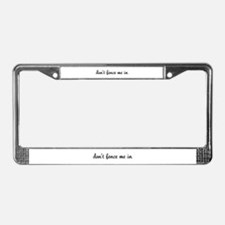Don't Fence Me In License Plate Frame
