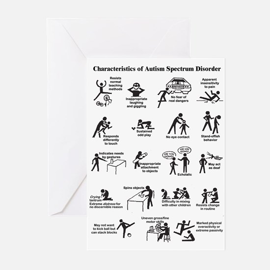 autism_chart Greeting Cards
