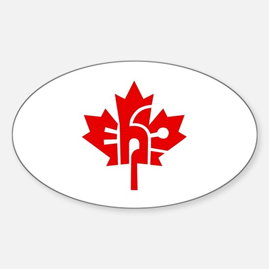 Canada Eh? Oval Decal