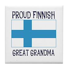 Finnish Great Grandma Tile Coaster