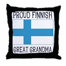 Finnish Great Grandma Throw Pillow