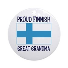 Finnish Great Grandma Ornament (Round)