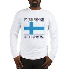 Finnish Great Grandma Long Sleeve T-Shirt