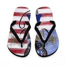 Siamese Queen of the USA Flip Flops