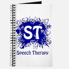 Speech Splash - blue Journal