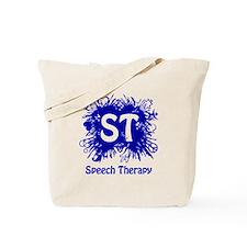 Speech Splash - blue Tote Bag