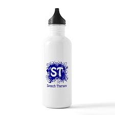 Speech Splash - blue Water Bottle