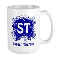 Speech Splash - blue Mugs
