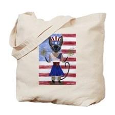 Siamese Queen of the USA Tote Bag