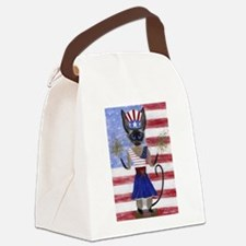 Siamese Queen of the USA Canvas Lunch Bag