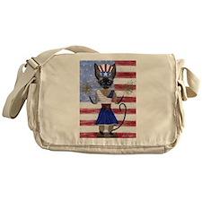 Siamese Queen of the USA Messenger Bag