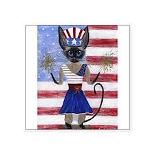 Siamese Queen of the USA Sticker