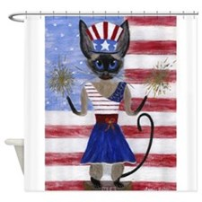 Siamese Queen of the USA Shower Curtain