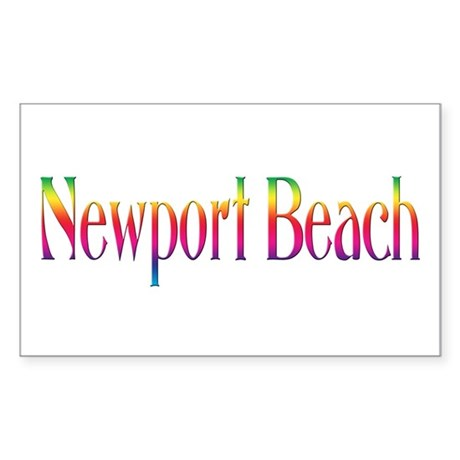 Newport Beach Rectangle Sticker