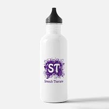 Speech Splash - purple Water Bottle