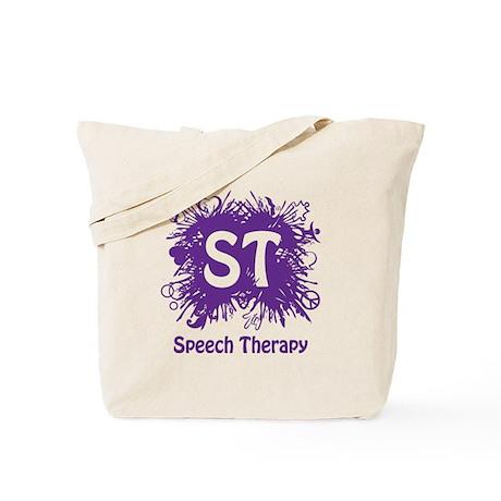 Speech Splash - purple Tote Bag