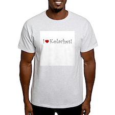 I Love Kolaches Ash Grey T-Shirt
