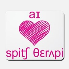I heart Speech Therapy Mousepad