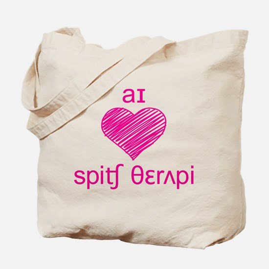 I heart Speech Therapy Tote Bag