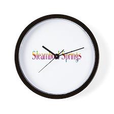 Steamboat Springs Wall Clock