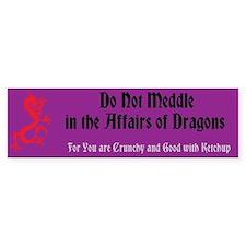 Affairs of Dragons - Bumper Bumper Sticker