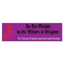 Affairs of Dragons - Bumper Sticker