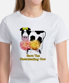 Cheerleading Cow Women's T-Shirt