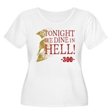 300 Tonight We Dine In Hell Plus Size T-Shirt