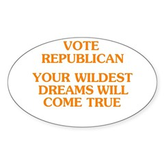 Vote Republican - Your Wildes Oval Decal