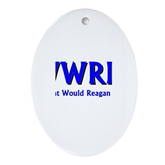 What Would Reagan Do? Oval Ornament