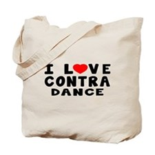 I Love Contra Tote Bag