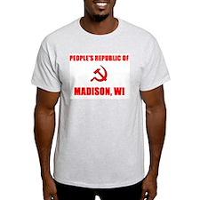 People's Republic of Madison, Ash Grey T-Shirt