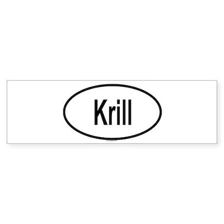 Krill Bumper Sticker