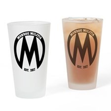Monroe Militia M Revolution Drinking Glass